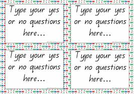 cards templates editable yes or no questions cards template k 3 teacher resources
