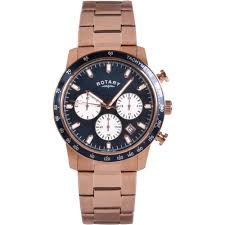 buy the men s rotary gb00355 05 watch francis gaye jewellers rotary men s blue dial rose gold chronograph watch gb00355 05