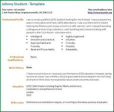First Job Cv How To Write Your First Resume Sample Intended For First Job