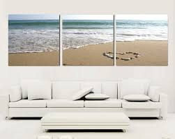 3 piece canvas wall art beach