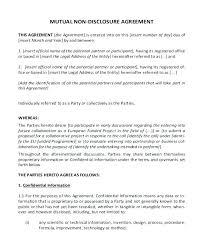 Non Circumvention Agreement Template Brilliant Circumvent Disclosure