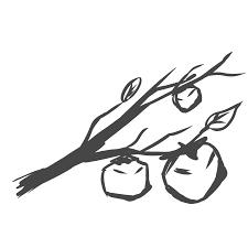 柿イラスト ベクター手描きかわいい果物無料素材 チコデザ