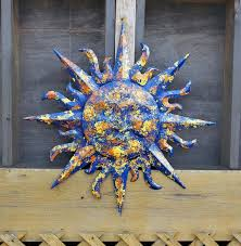 sunface wall decor garden decor metal