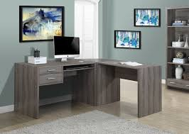 com monarch specialties dark taupe reclaimed look computer desk kitchen dining