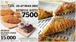 Promo Breadtalk Mulai Hari Ini Hingga Rabu 273 Semua Roti Cuma