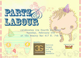 Parts And Labour Party Flyer Theyre Having A Party I Mad