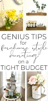 decorate your house on a tight budget