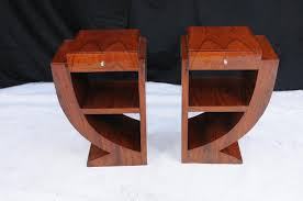 About Pair Art Deco Bedside Tables Nightsands Bedroom Furniture