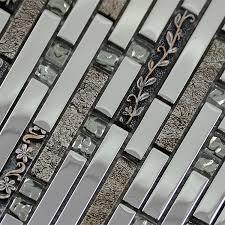 glass mosaic tiles crystal diamond tile bathroom wall strip stickers