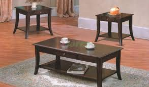 Wooden Coffee Tables With Drawers Grus Wooden Coffee Table Set With Drawers Xiorex