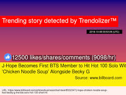 J Hope Becomes First Bts Member To Hit Hot 100 Solo With