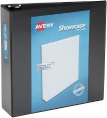 Avery Economy Showcase View Binder With 3 Inch Round Ring Black