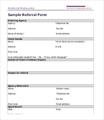 Referral Form Templates Referral Form Template Word Rome Fontanacountryinn Com