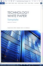 White Paper Templates 7 Guidelines For Writing White Papers Templates Forms
