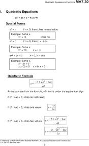 quadratic equation worksheet semnext