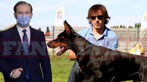 Imagini în premieră cu Florin Cîţu şi câinele său, Lomu, de 11 ani cel mai bun