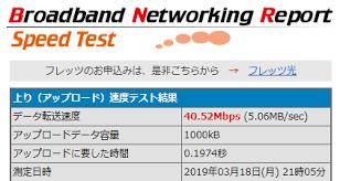 ネット 回線 速度