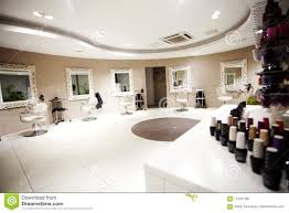 Hair Cutting Salon Interior Design Hair Nails Beauty Salon Stock Image Image Of Mirror
