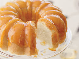 Lemon Cake With Crackly Caramel Glaze And Lime Yogurt Mousse Recipe
