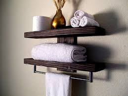 bathroom shelves floating shelves towel