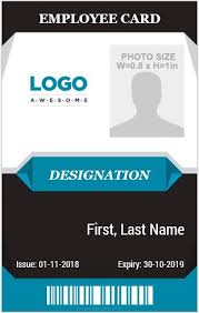 Company Id Badge Template 10 Amazing Employee Vertical Size Id Cards For Free