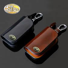 <b>SNCN</b> Genuine <b>Leather Car Key</b> Chain Wallets Cover Case For ...