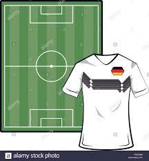 Soccer Camp Shirt Designs Germany Soccer Tshirt On Camp Field Vector Illustration