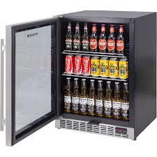 glass door front venting beer fridge with quiet operation sk151b control