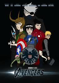Konoha Avengers Assemble by Hexephra.deviantart.com | Anime crossover,  Naruto funny, Naruto