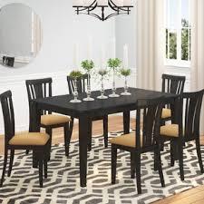 oneill modern 7 piece wood dining set