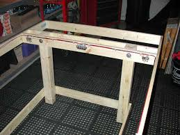 ho slot car racing track table construction the power track wiring mounted and secured we can now move on to the driver station hookups a pair red and black wires are attached to the driver s