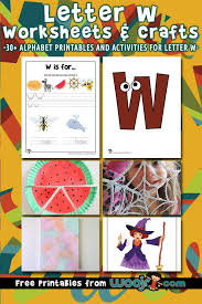 Time to work on letter w? Letter W Worksheets Crafts Woo Jr Kids Activities