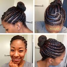 Black Braided Bun Hairstyles Bun Black Women Natural Hairstyles Hairstyle Get Free Printable