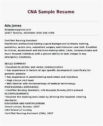Sample Resume Certified Nursing Assistant Photo Cna Resume Examples
