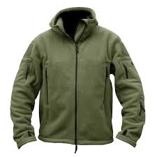 mens military outdoor winter coat jacket warm army hoo thermal police hunting army green xl