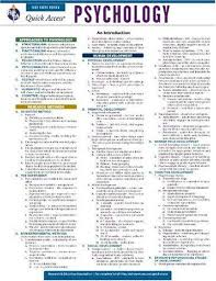 Psychology Chart Psychology Reas Quick Access Reference Chart Quick
