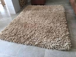 large snuggly deep pile wool rug 2m x 1 5m