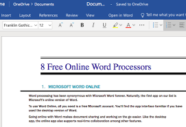 Microsoft Work Free The 8 Best Free Online Word Processors