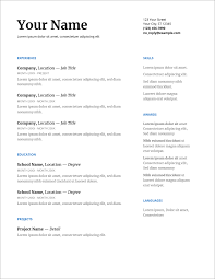 Resume Formats In Microsoft Word 45 Free Modern Resume Cv Templates Minimalist Simple