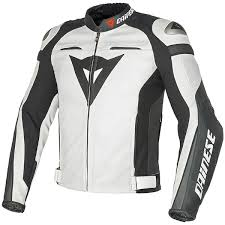 dainese super sd c2 leather jacket white white anthracite