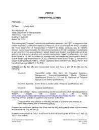 Form A Transmittal Letter Insert Date