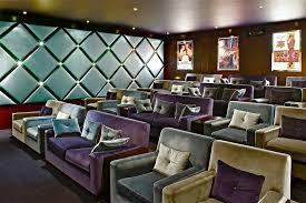 decoration home theater contemporary with tiered seating tiered seating gray armchair