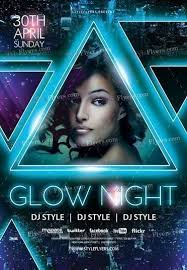 glow flyer glow night psd flyer template 18818 styleflyers