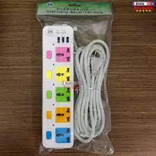 Ổ Cắm Điện Đa Năng 5 Phích Cắm Tiện Dụng 3 Cổng USB Sạc Điện Thoại CYX 335u  - Dây Dài 5 Mét