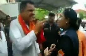 Watch Bjp Mla Rajkumar Thukral Threatens Female Sub Inspector