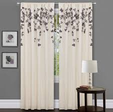 Simple flower pattern curtain