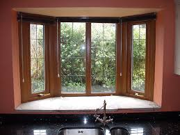 Kitchen Bay Window Seating Decorations Bay Window Seat Furniture With Backyard Pool View