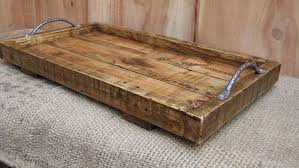 delightful design rustic wooden tray large rustic serving tray wooden tray made from reclaimed