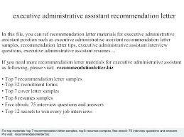 Executive Administrative Assistant Job Description Resume Admin