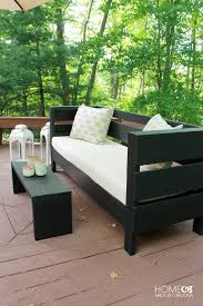 you even get a how to with this outdoor furniture plan from homemade modern and yep this is a more modern diy outdoor sofa that could not be more